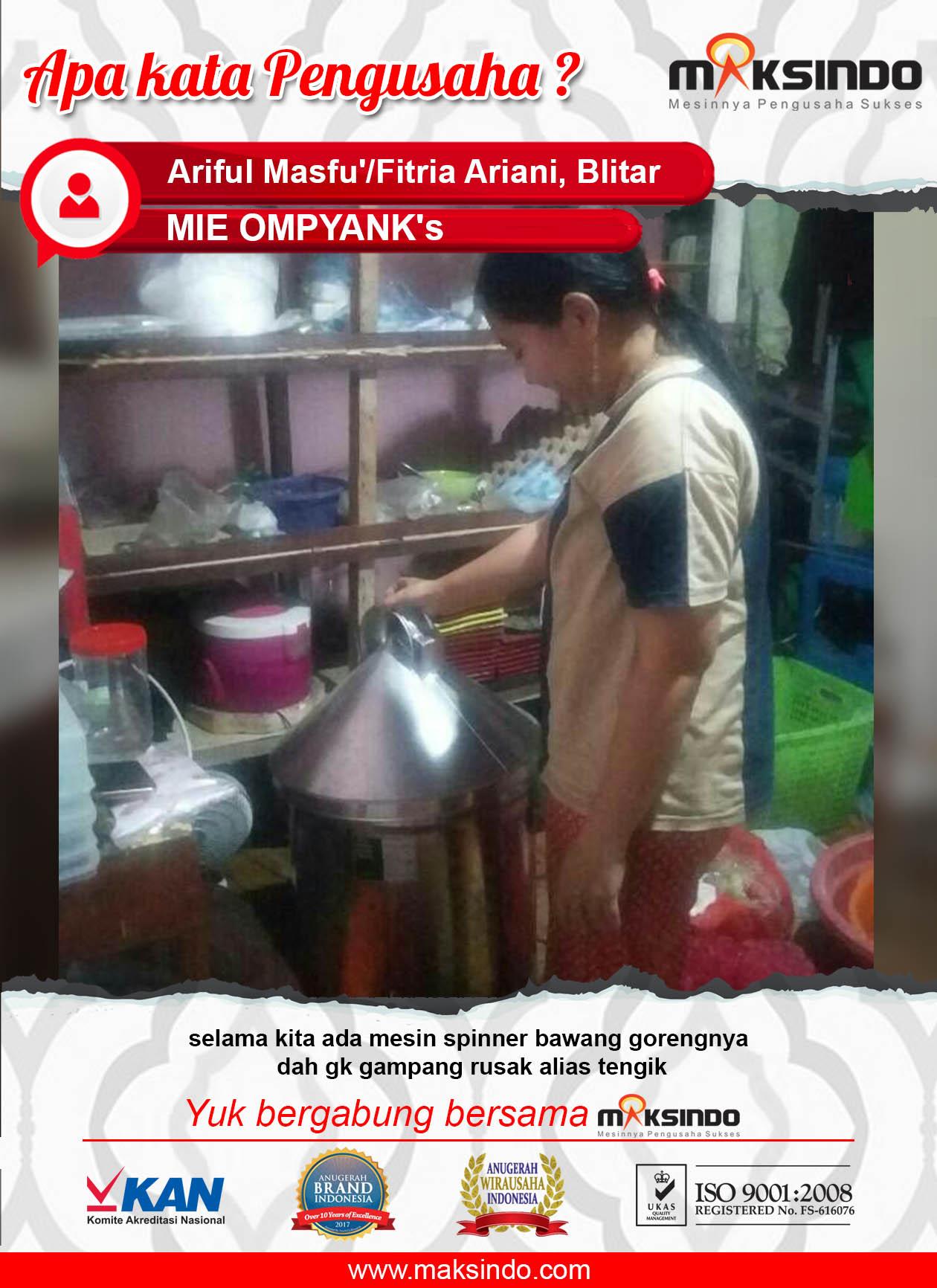 MIE OMPYANK's : Mesin Spinner  Maksindo untuk Menggoreng Bawang Tidak Tengik atau Rusak