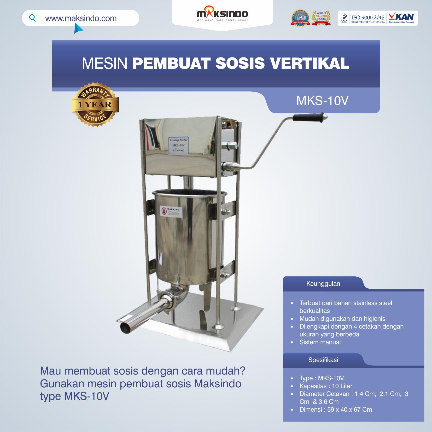 Jual Mesin Pembuat Sosis Vertikal MKS-10V di Blitar
