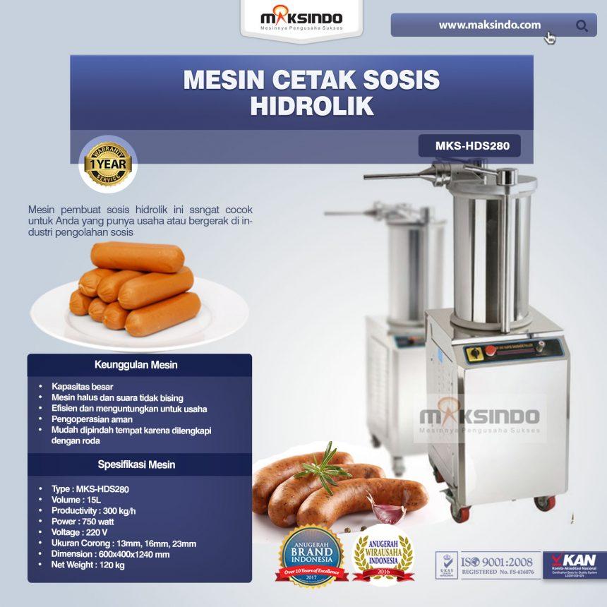 Jual Mesin Cetak Sosis Hidrolik di Blitar MKS-HDS280