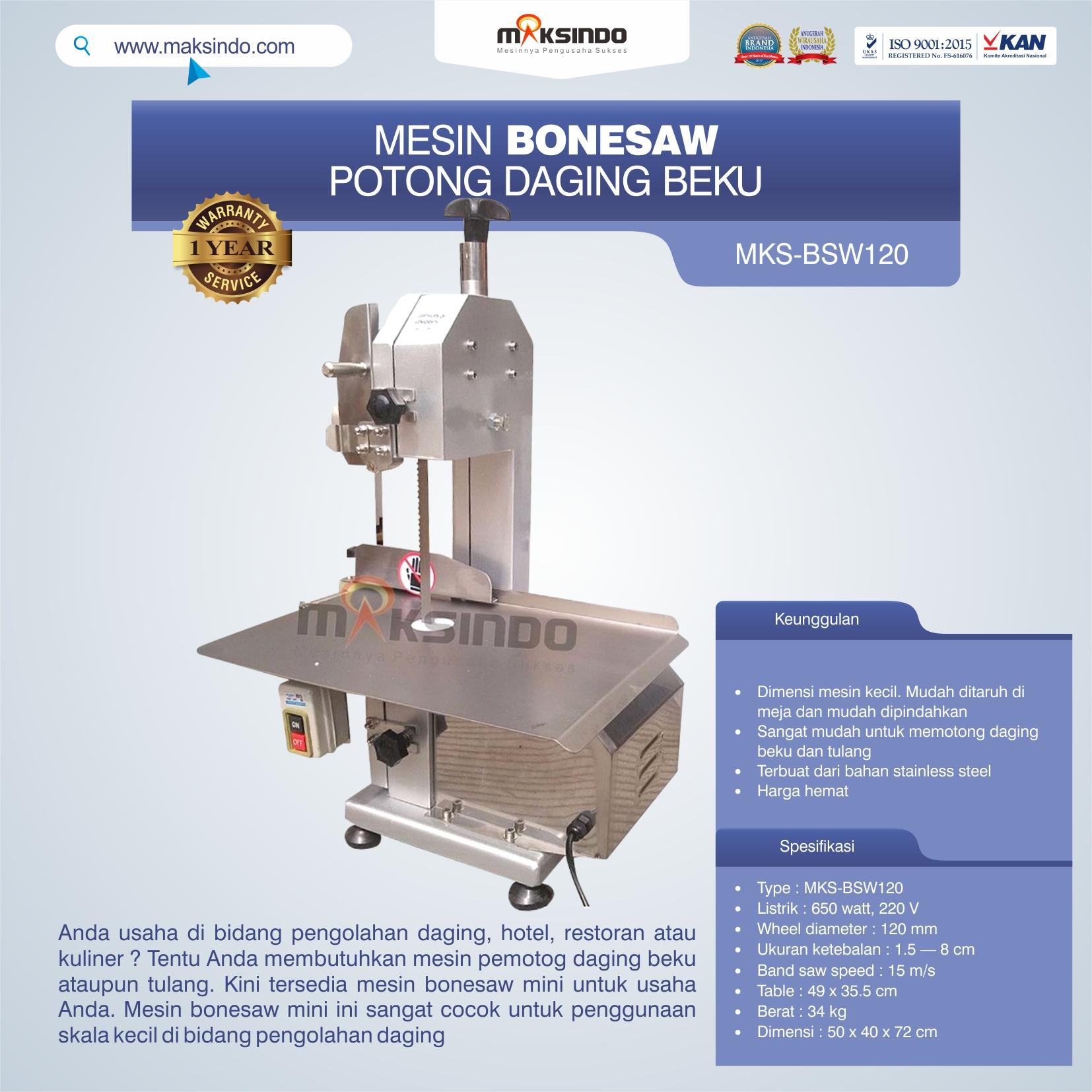 Jual Bonesaw Pemotong Daging Beku (MKS-BSW120) di Blitar