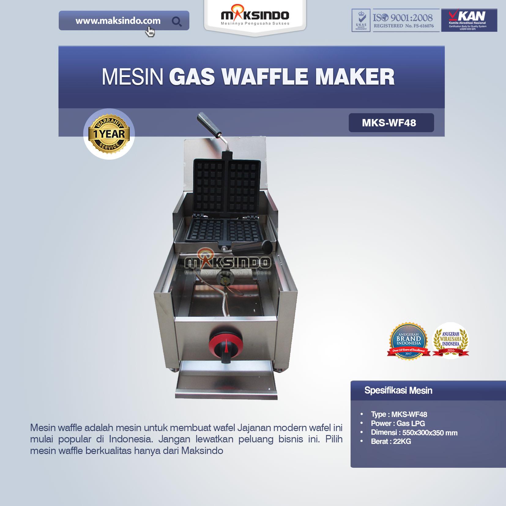 Jual Mesin Gas Waffle Maker MKS-WF48 di Blitar