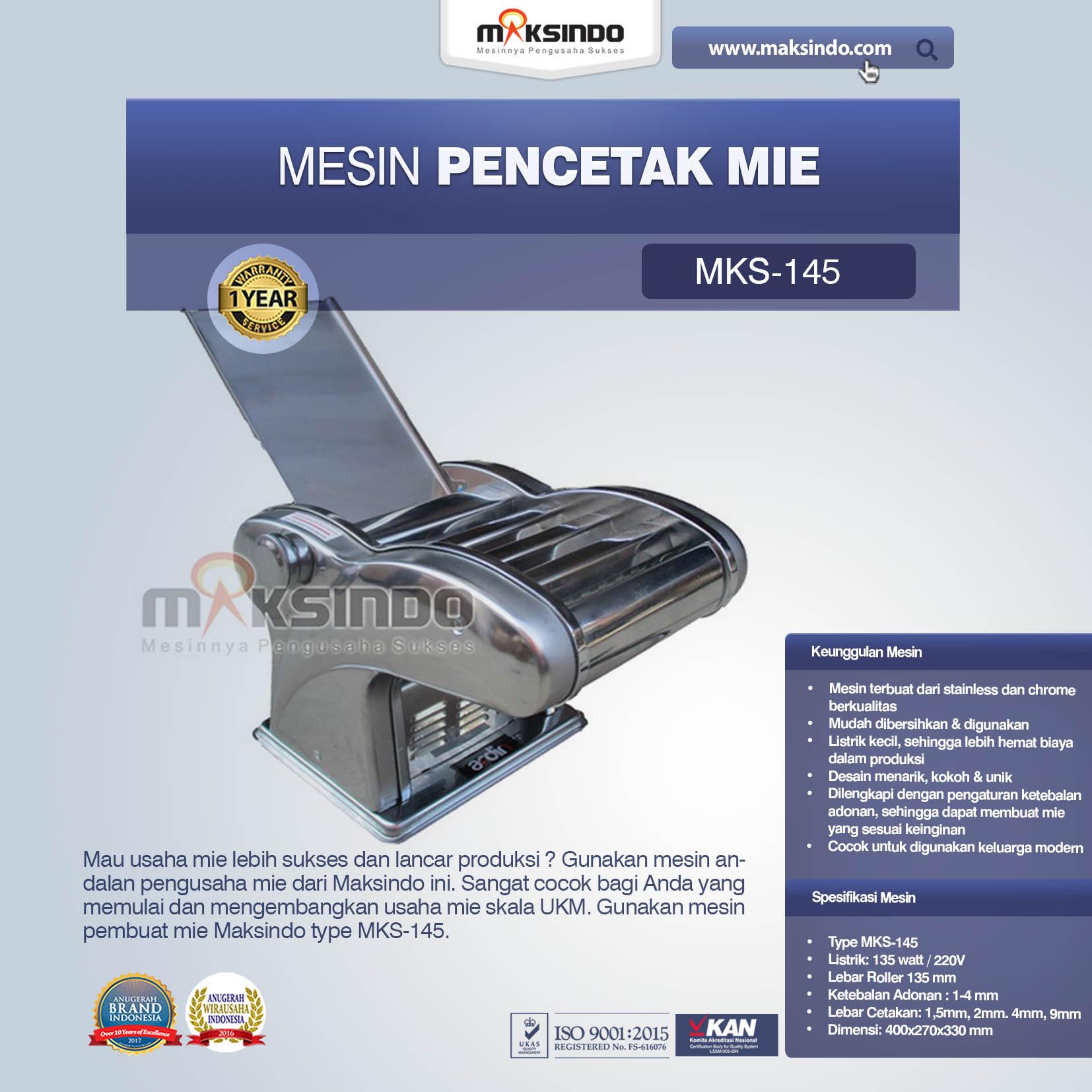 Jual Mesin Cetak Mie (MKS-145) di Blitar