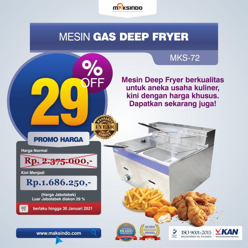 Jual Mesin Gas Deep Fryer MKS-72 di Blitar