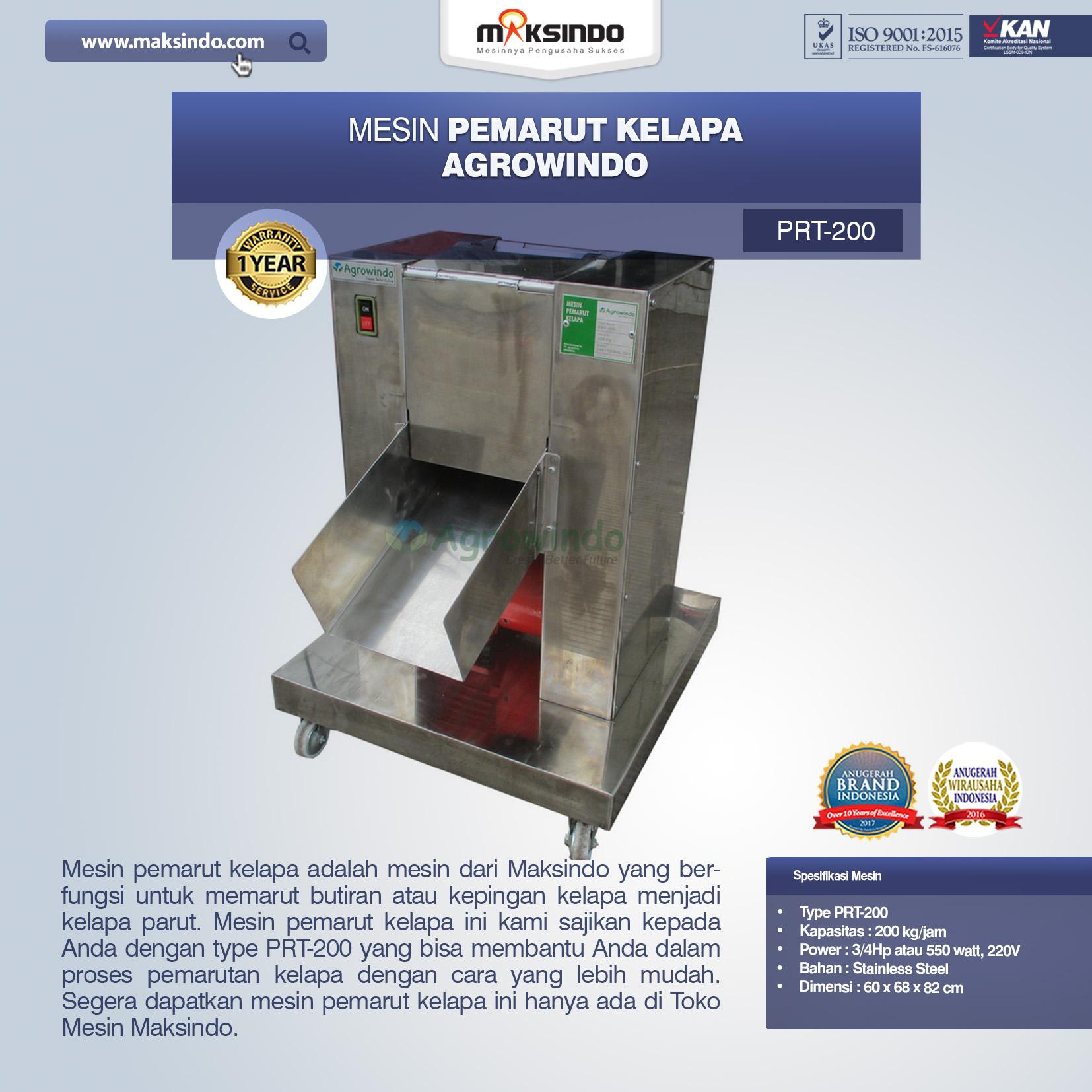 Jual Mesin Pemarut Kelapa PRT-200 di Blitar