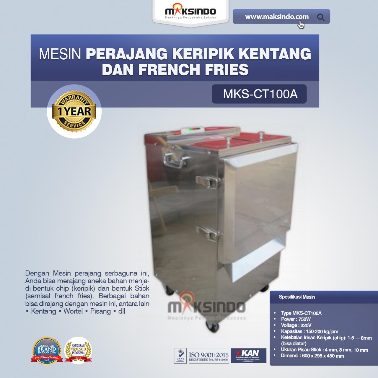 Jual Mesin Perajang Keripik Kentang dan French Fries – MKS-CT100A di Blitar