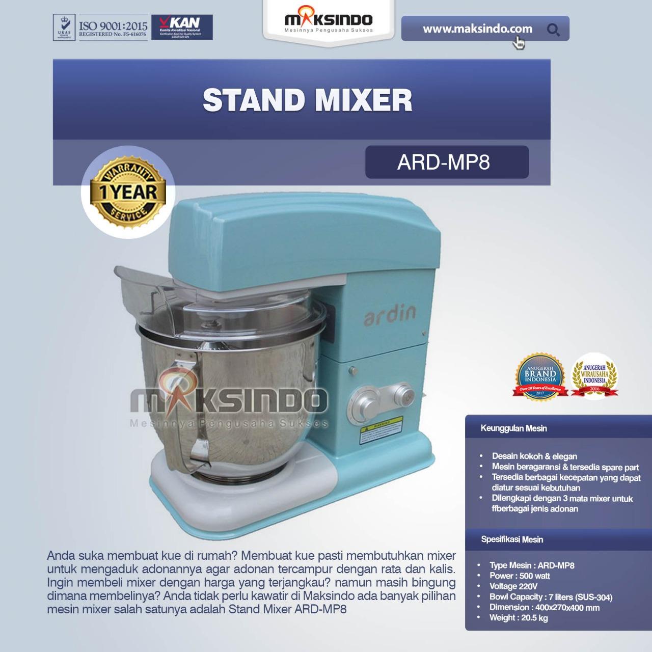 Jual Stand Mixer ARD-MP8 di Blitar