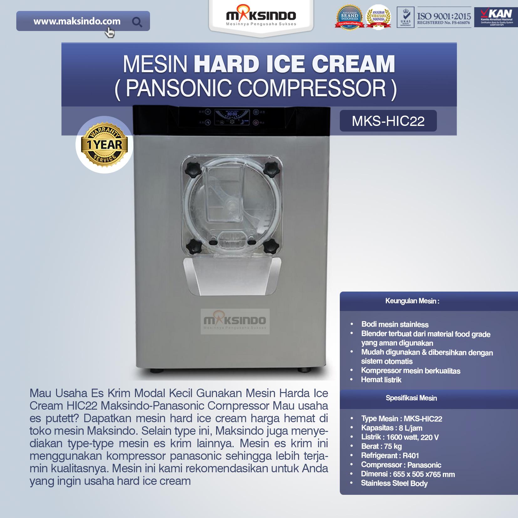 Jual Mesin Hard Ice Cream (HIC22) di Blitar