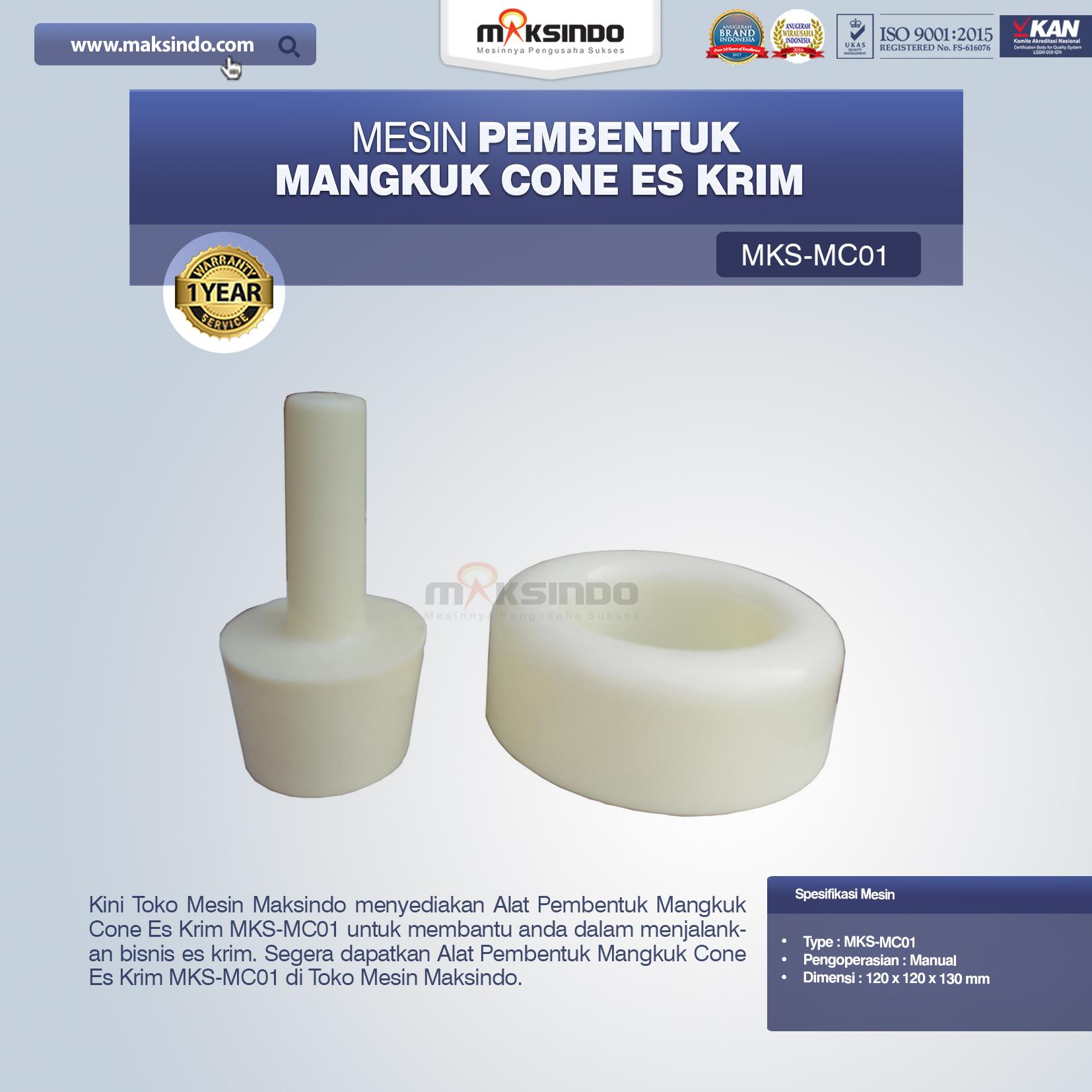Jual Alat Pembentuk Mangkuk Cone Es Krim MKS-MC01 di Blitar