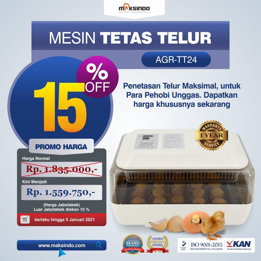Jual Mesin Penetas Telur AGR-TT24A di Blitar