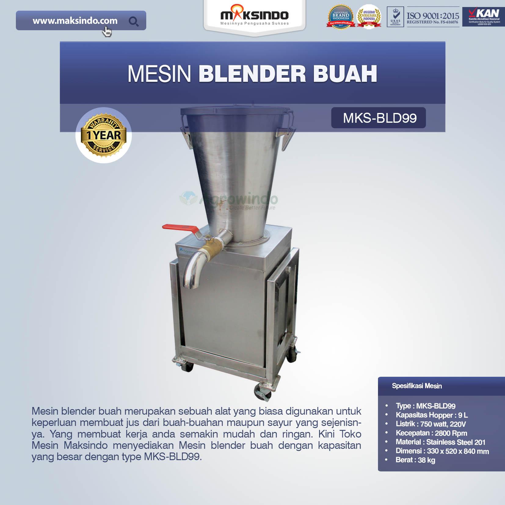 Jual Mesin Baru Mesin Blender Buah MKS-BLD99 di Blitar