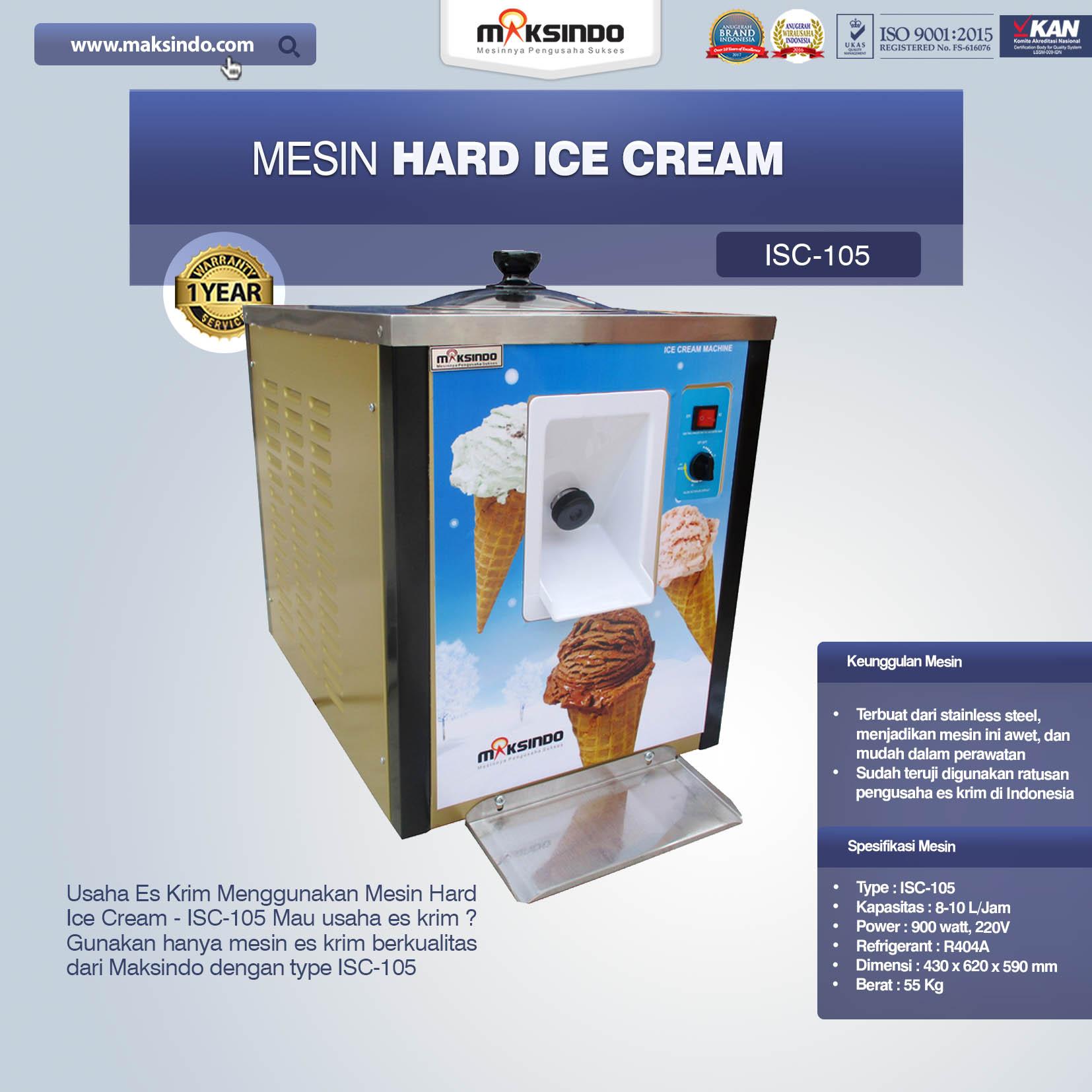 Jual Mesin Hard Ice Cream ISC-105 di Blitar