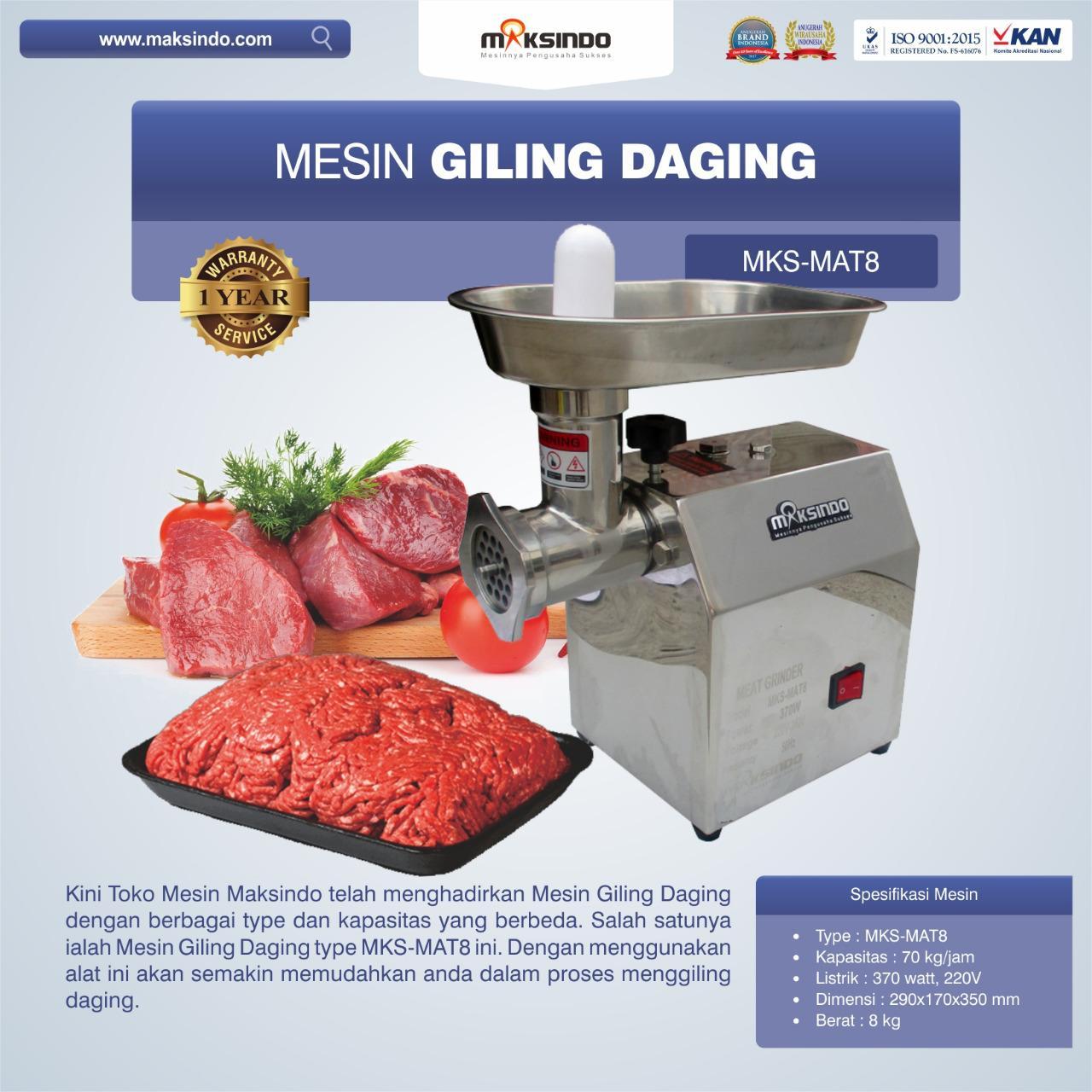 Jual Mesin Giling Daging MKS-MAT8 di Blitar
