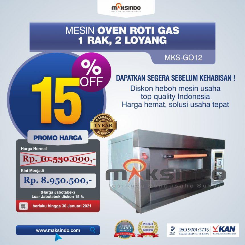Jual Mesin Oven Gas 2 Loyang (MKS-GO12) di Blitar