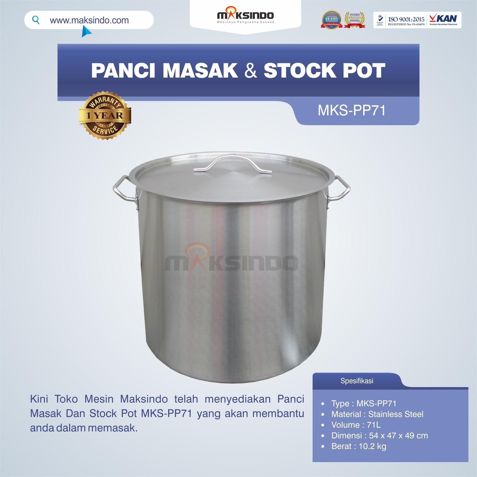 Jual Panci Masak Dan Stock Pot MKS-PP71 di Blitar