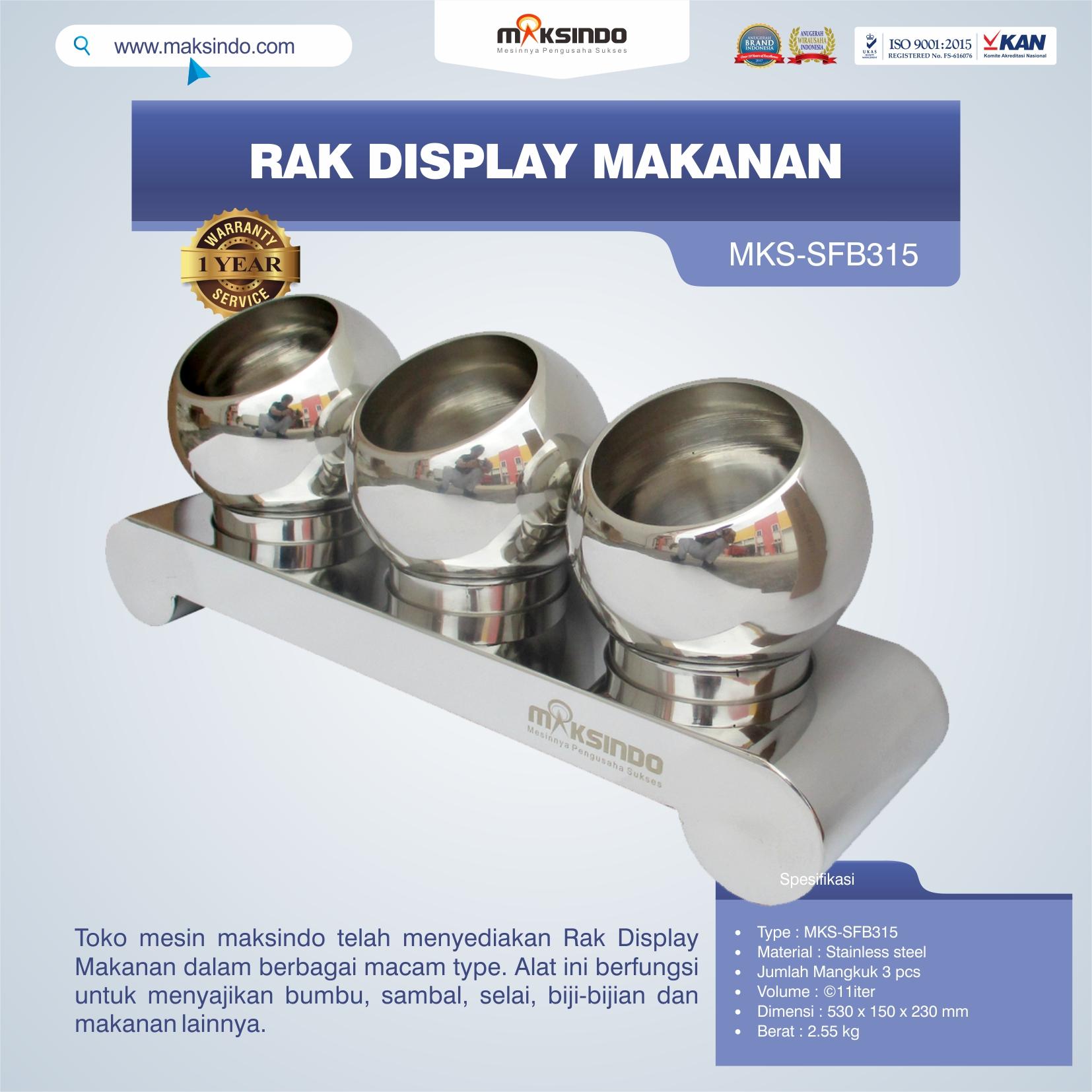 Jual Rak Display Makanan MKS-SFB315 di Blitar