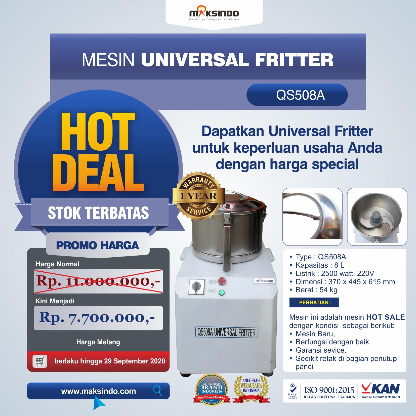 Jual Mesin Universal Fritter QS508A di Blitar