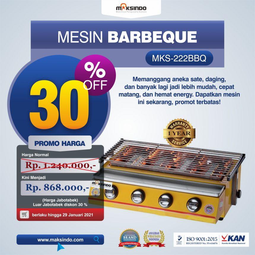 Jual Mesin Pemanggang Sate – BBQ 4 Tungku (Gas) di Blitar