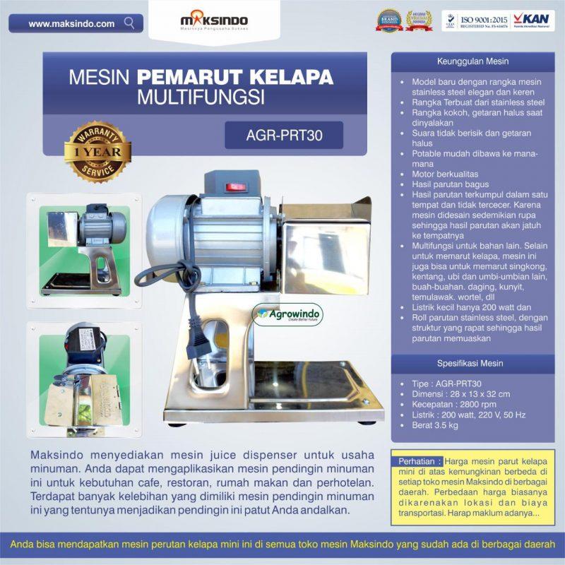 Jual Mesin Pemarut Kelapa Multifungsi AGR-PRT30 di Blitar